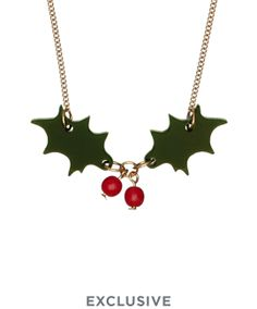 Holly Necklace - Dark Green £30 - Christmas 2016