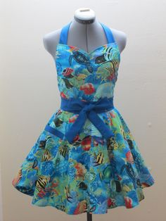 Limited Edition  Fishes and Sea Turtles  by AquamarCouture on Etsy, $37.00
