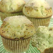 pistachio muffins - I'd use almond extract instead of the pistachio flavor