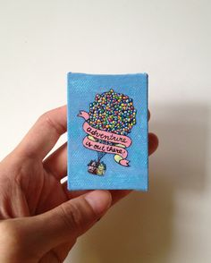 Disney Pixar UP Mini Canvas Painting ❤❤❤❤❤❤❤❤❤