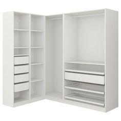 Closet Organizers 425168021070230907 - IKEA PAX Penderie d'angle Source by equinature Ikea Pax Corner Wardrobe, Corner Closet, Ikea Closet, Closet Shelves, Attic Closet, Bathroom Closet, Bedroom Closet Design, Closet Designs, Bedroom Wardrobe