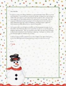 Santa Letter - Letter for Child that Does Not Believe