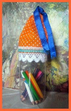 Best out of Waste Plastic bottles Craft – Pencil Container