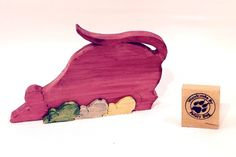 RED Mouse Momma and Babies Puzzle by Woodcrafts by Feisty Dog, $6.80 USD