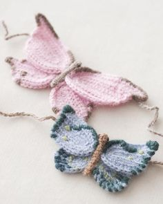 Knitted butterflies (inspiration)