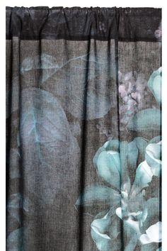 Zasłona 2-pak - Antracytowoszary/Kwiaty - | H&M PL