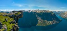 A panorama of Preikestolen (The Pulpit) near Trolltunga (The Troll Tongue) in Norway taken last summer. It was such a beautiful place!