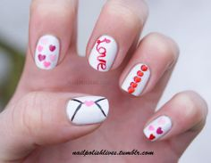 Love Nail Art Designs Ideas For Valentines Day 2014 Heart Nails Love Nails, How To Do Nails, Fun Nails, Valentine Nail Art, Valentines, Nail Art Designs, Nails Design, Romantic Nails, Glam Nails