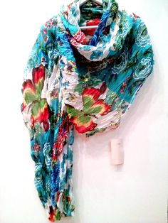 Φουλάρι παρεό σε υπέροχο floral σχέδιο  100% Βαμβάκι Plaid Scarf, Fashion, Moda, Fashion Styles, Fashion Illustrations, Fashion Models