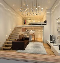 Loft pequeno e moderno
