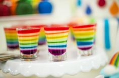 Dessert / food to serve at a rainbow party #dessert #rainbow #party #jello