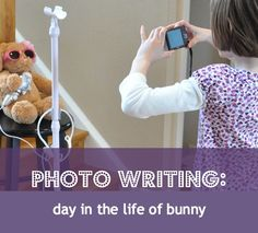 Photography inspires kids - heck, it inspires me, too! Get your child involved in a photo writing project with this prompt idea: a day in the life of her favorite toy. Preschool Literacy, Early Literacy, Literacy Activities, Activities For Kids, Teaching Writing, Kids Writing, Start Writing, Writing Ideas, Writing Inspiration