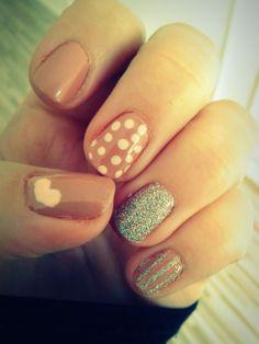 glitter, heart & dots