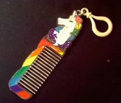 Hard plastic Rainbow Unicorn Comb This is a rare item Still in its original plastic bag Good condition Measures about 18.5 cm X 3.5 cm  This is a used