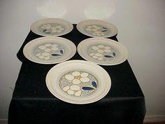5 Yamaka Tiffany Flowers Salad/Dessert Plates by thebestofthepast