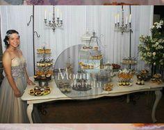 Mesa de Postres y Mesa Munchies en los XV de Jesica Alejandra el 19 de Septiembre 2015 #dessertbar #munchies #moondelight #tampico #XV
