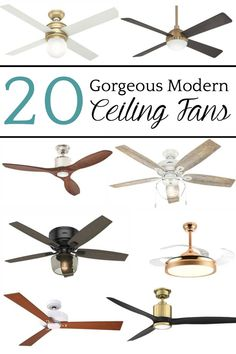 20 Gorgeous Modern Ceiling Fans | A round-up of 20 beautiful ceiling fans to add modern style to a room while keeping the climate comfortable. #ceilingfans #modernceilingfans