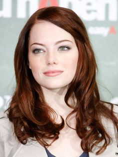 Red for winter - would I dare? Love Emma Stone's color!