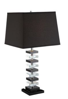 Black And White Table Lamp: Contemporary Crystal Black & White Table Lamp (set of 2) 902384,Lighting