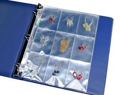 Sports-card pages are a convenient way to transport and display earrings for sale -- or travel.