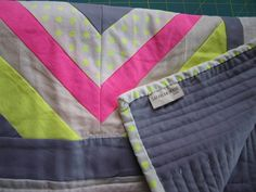 Neon Modern Quilt by SarahLawsMade on Etsy