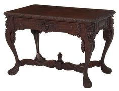 Victorian Face Carved Table Circa.1890