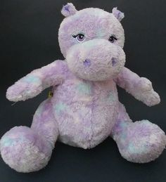 5c8f763c3d6 Build A Bear Hippo Plush Tie Dye Purple Hippopotamus 12