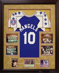 Special design of this jersey made custom by Art and Frame Express in Edison NJ.