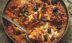 Hugh Fearnley-Whittingstall's baked chicken with tomatoes and rice