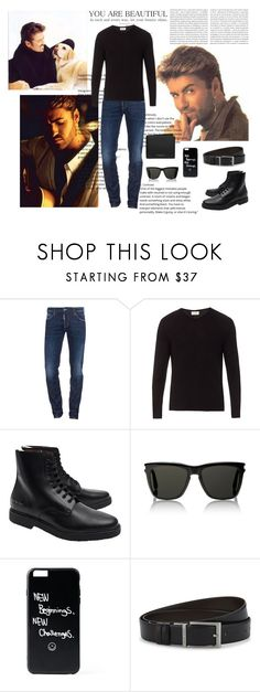 """George Michael"" by spainlover ❤ liked on Polyvore featuring Oris, Dsquared2, American Vintage, Common Projects, Yves Saint Laurent, HUGO, Michael Kors, men's fashion and menswear"