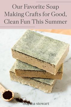 Whether you want to put together a handmade present, upgrade your self-care with bars of soap, or spend an afternoon crafting with your kids, these DIY soap projects are worth trying this summer. #marthastewart #crafts #diyideas #easycrafts #tutorials #hobby