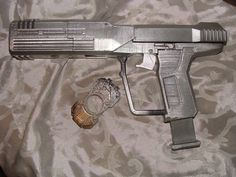 3D Print ODST Silencer Halo Magnum & pistol Gun Life Size Cosplay Toy prop Nerf by Dusty Plastics in El Paso TX painted by Leslie's 2nd Chance Toys