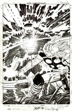 Thor vs. The Destroyer by John Romita Jr.