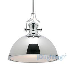 Lyon Metal & Frost Glass Industrial Style Pendant - Mercator MP4231 — JD Lighting