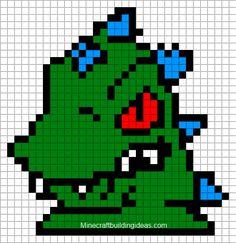 Minecraft Pixel Art Templates: Reptar