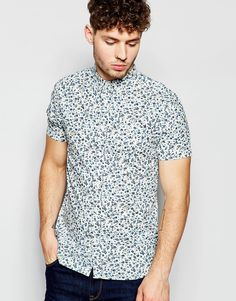 Brave+Soul+Small+Floral+Short+Sleeve+Shirt