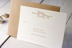 Modern Chevron Wedding Invitations by Meticulous Ink via Oh So Beautiful Paper (3)