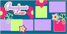 Grandmas Love Pagekit from Down Memory Lane.  Kit includes everything you need to create this 2-page 12x12 layout - just add adhesive!