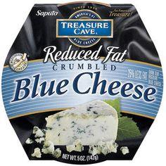 Treasure Cave Reduced Fat Crumbled Blue Cheese, 5 oz