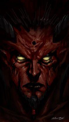 When man become Evil by Liarath on deviantART Gothic Fantasy Art, Fantasy Artwork, Monster Vampire, Devil Aesthetic, Horror Themes, Satanic Art, Evil Art, Dark Art Drawings, Ange Demon