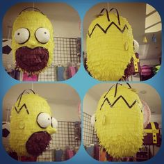 Pinhata Homero Simpson Gifts, Jars, Celebration, Fiesta Party, Homer Simpson, The Simpsons, Costume, Meet, Ornaments