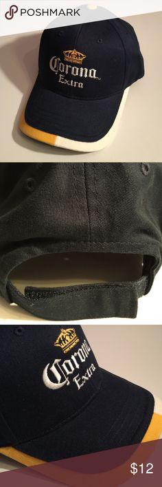 Corona baseball cap/hat Velcro back strap🎉Sale Corona baseball cap/hat Velcro back strap dark/navy blue Accessories Hats
