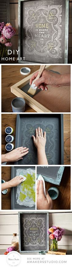 chalkboard art can be hard unless its done with these patented new stencils that don't bleed! Grab this kit from Amy Howard and make this beautiful farmhouse style DIY craft all on your own. Stencil Diy, Stencils, Maker Studios, Heart Diy, Wedding Show, Chalkboard Art, Traditional Decor, Diy Wall Decor, Decoration