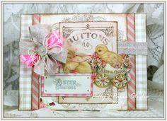 Joyful Easter Greeting Card Handmade by PollysPaper on Etsy, $6.50