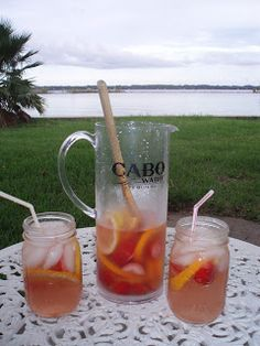 Light Fruity Sangria! MMMmm I need to make some of this for next weekend. Need someone to share it with :)