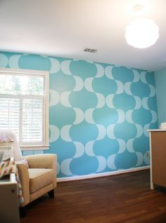 Amazing stenciled wall