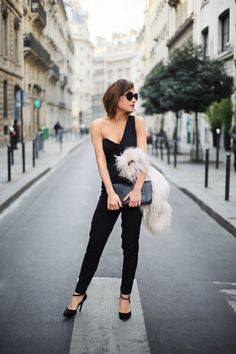 @Who What Wear - 8 Secrets To Dressing Like A French Girl Unexpected skin. Still classy. Love it