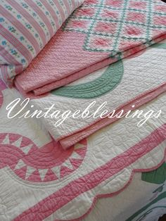 Beautiful vintage quilts have me thinking that spring is just around the corner!