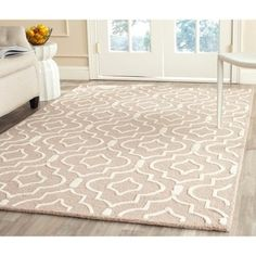 Shop for Safavieh Handmade Moroccan Cambridge Collection Beige/ Ivory Wool Rug (6' x 9'). Get free shipping at Overstock.com - Your Online Home Decor Outlet Store! Get 5% in rewards with Club O!
