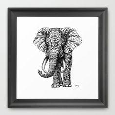 [JUL.28.2013]   Ornate Elephant Framed Art Print